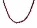 Red Garnet Round 5 mm Beads Gemstone Necklace