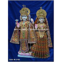 Laxmi Narayan White Makrana Marble Statue