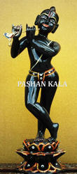 Black Marble Iskon Krishna Statue