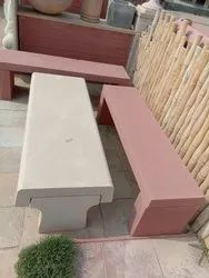 Red Sandstone Bench