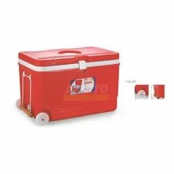 Red 110 Liter Insulated Ice Box