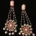 Brass Modern Party Wear Artificial Earrings