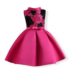 50d4fa58c Cotton Pink And Black Baby Girl Dress, Rs 150 /piece, Vaklar ...