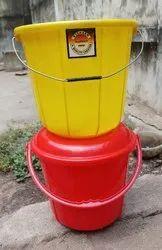 Blue Plastic Birani Bucket 5 ltr, For Home