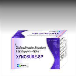Diclofenac Potassium 50mg Serratioptidase Paracetamol Tablets