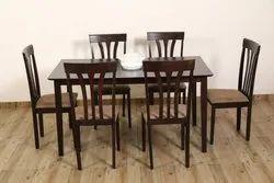 Wenge Rubber Wood 6 SEATER DINING SET (HV-DT6S-7), For Home