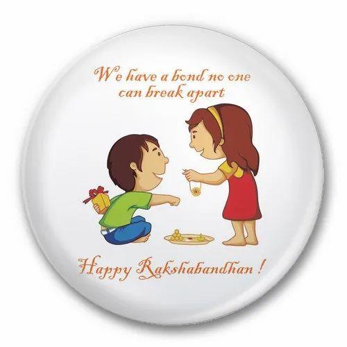 Happy Raksha Bandhan Magnet 104