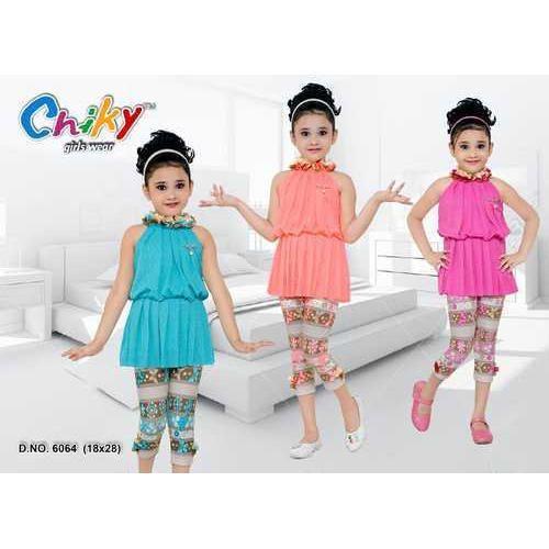 4d0f5503f434a Kids Cotton Fancy Capri