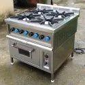 Ss Four Burner Electric Oven Range