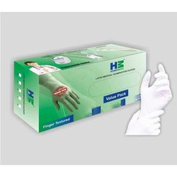 Non-Sterile White Latex Medical Examination Gloves, for Clinic, Hospital