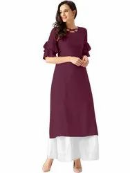 Casual Wear Bell Sleeve Kurti
