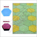 Blue/yellow Pvc Hexagon Paver Block Mould, Packaging Type: Plastic Bag
