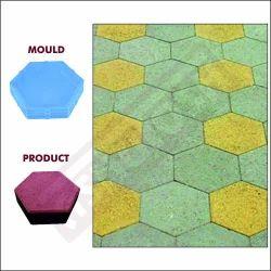 Hexagon Paver Block Moulds 60 mm 616C - Ant