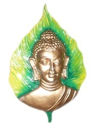 Gautam Buddha Wall Hanging On Leaf