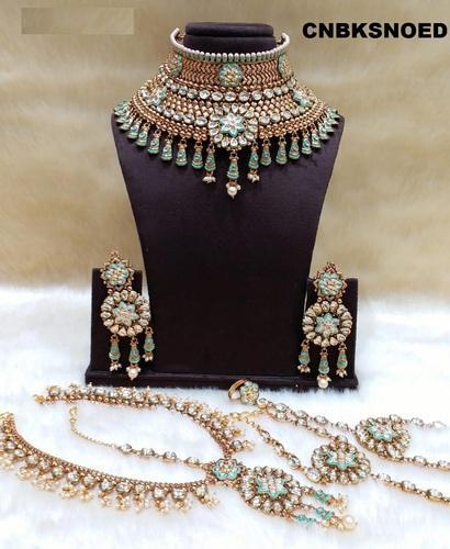 Jewelry Jewel India Indian Bollywood Traditional Pearl Kundan