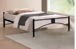 Black Wooden Modern Iron Hostel Room Bed