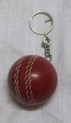 Miniature Cricket Ball Key Chain