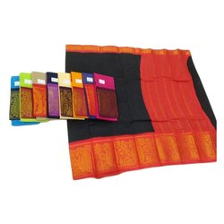 Madurai cotton handloom Party Wear cotton Saree, 6.3 m (with blouse piece)