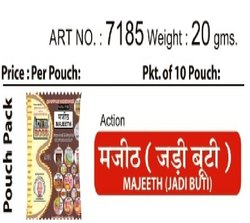 ACTION MAJEETH (JADI BUTI), Packaging Size: 20 Gms., Puja/Traditional