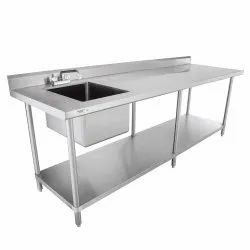 Stainless Steel Single Bowl Table Sink