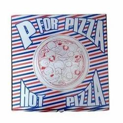 Printed Colored Pizza Packaging Corrugated 10 x 10 x 1.5 Box