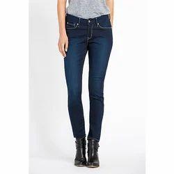 Ladies Denim Dark Blue Stretchable Skinny Jeans