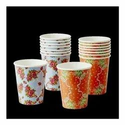 Multicolor 200ml Printed Paper Cold Drink Cup, For Parties, Capacity: 200 ML