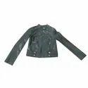 Full Sleeve Plain Ladies Leather Jacket, Size: M-xxl