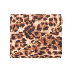 Azzra Chita Printed Fabric Wooden Clutch