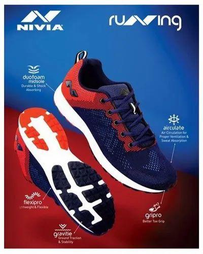 Men Nivia Yorks Running Shoes, Size: 5