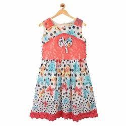 Cotton Western Printed Girls Dress