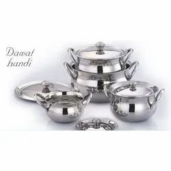 Stainless Steel Biryani Handi Set