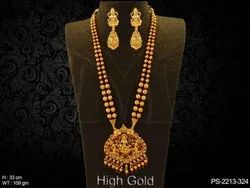 Laxmi Ji Pendant Temple Jewellery Necklace
