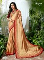 Fancy Red  Royal Georgette Saree
