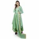 Festive Wear Raw Silk Ladies Ethnic Wear