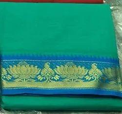 Cotton Green Saree