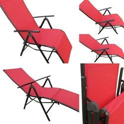 Folding Reclining Chair - Leg Frame - Red