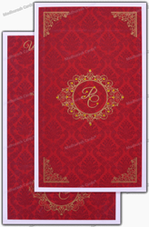 Stylish Three Fold Customize Wedding Invitation