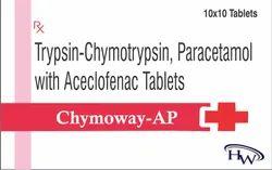 Trypsin-Chymotrypsin Paracetamol With Aceclofenac Tablets