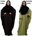 Plain 2 Wearable Style Arabic Abaya Burkha With Dupatta