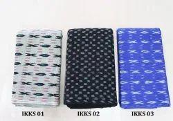 Regular Wear Ikkat Cotton Fabric Elegant Cotton Ikkat Material, GSM: 100-150