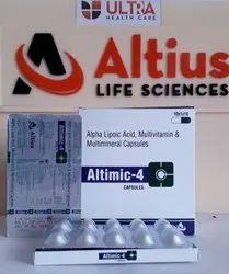 Alpha Lipoic Acid, Multivitamin And Multimineral Capsules