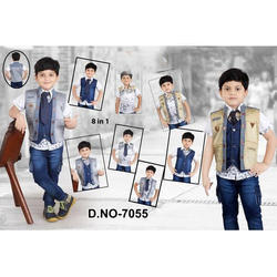 Denim Kids Suit, Size: Medium