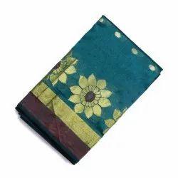 Party Wear Fancy Banarasi Silk Saree, Packaging Type: Box, 6.3 m (with blouse piece)