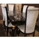Manhattan White And Brown 6 Seater Dinning Table Set For Home