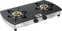 Black Glass 2 Burner Gas Stove