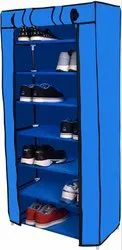 Magna Homewares 7 Layers Smart Shoe Rack with Dustproof Cover -Blue