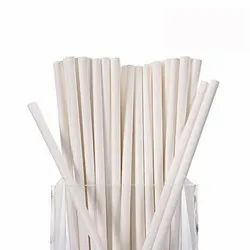 White Plain Paper Straw
