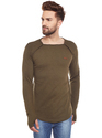 Men Thunbhole Square Neck T-Shirt