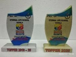 Trophy Wooden Glitter Sublimation